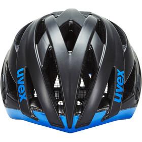UVEX ultrasonic race Cykelhjälm black mat-blue